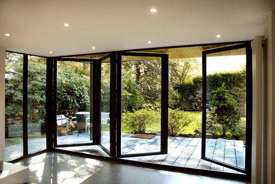 bifold doors outside
