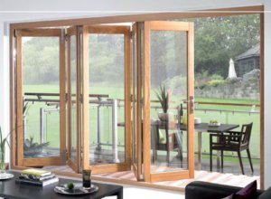 oak timber bifold doors